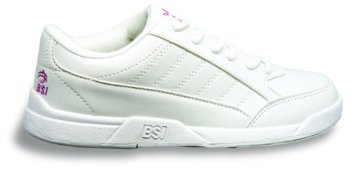 BSI Girl`s Basic #432 Bowling Shoes, White, Size 2.0