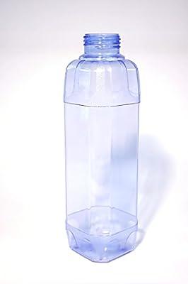 4x TRITAN Trinkflaschen Set bestehend aus: 2x 1 Liter (eckig), 2x 0,5 Liter (rund) + 3 Standard-, + 3 Dicht-, + 2 Trinkdeckel ohne Weichmacher ohne Schadstoffe weichmacherfrei / BPA frei, Öffnung (33 mm) geschirrspülfest lebensmittelecht geschmacksneutr