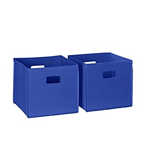 RiverRidge Kids 2pc Soft Storage Bins ? Blue