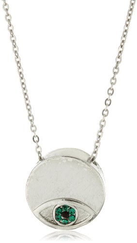 House of Harlow 1960 Evil Eye Disc Charm Necklace
