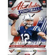 2014 Panini Absolute Football Cards Hobby Box (10 CARDS PER BOX, 3 Memorabilia, 2 Autos, Possible 6-player & 8-player swatch