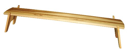 J.K. Adams 48-Inch-By-10-Inch Hickory Wood Cricket Table Riser