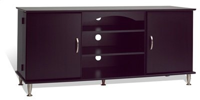 Cheap Prepac Black Plasma TV Stand with media storage, holds up to a 60 inch plasma TV (B004XC5MH2)
