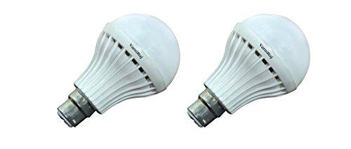 VarniRaj Microfiber 9W LED Bulb (White, Pack of 2)