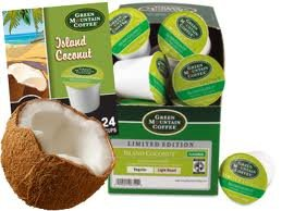 Green Mountain Coffee Island Coconut 48 K-Cups For Keurig Brewers