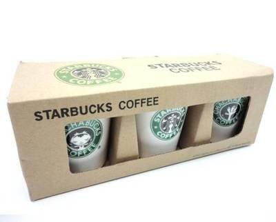 【並行輸入】海外限定スターバックスstarbucksタンブラー ビックロゴ マグカップ3個セット/箱