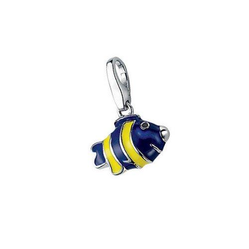 Giorgio Martello Charm Silver 612-808869 Lucky Fish Blue/Yellow