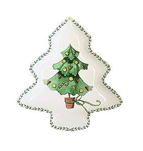 Mini assiette Sapin de Noël - forme sapin