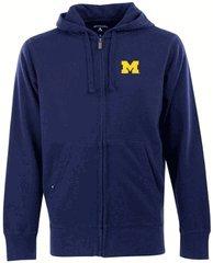 Ncaa Michigan Wolverines Full Zip Hoodie, Navy, Large front-682428