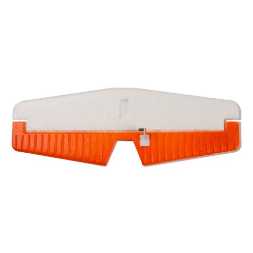 EasySky Horizontal Stabilizer for Cessna 182 Airplane, White/Orange