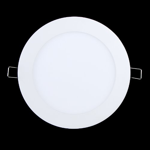 Tomtop 12W Panel Light 900Lm Round Led Ceiling Light/ Wall Light Recessed Down Light Pure White 6500K