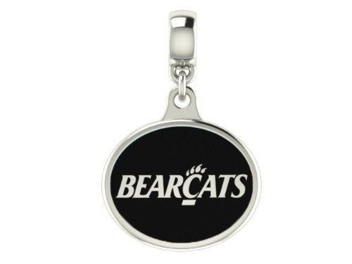 Cincinnati Bearcats Enameled Drop Charm Fits All European Style Bracelets