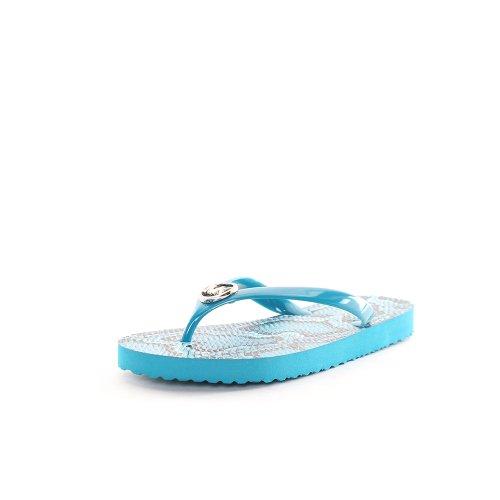 Michael Kors Women'S Flip Flops Open Toe Sandals In Blue Size 9 front-937099