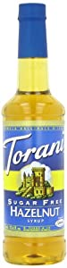 Torani Sugar Free Syrup, Hazelnut, 25.4 Ounce (Pack of 4)