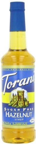 Torani Sugar Free Syrup, Hazelnut, 25.4 Ounce (Pack of 4)