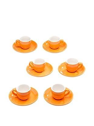 Tognana Kit de Tazas Espresso con Platos 12 Piezas Colorado