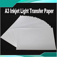 20 Sheets Durable A3 Inkjet Light Transfer Paper Heat Press DIY T-shirts Crafts