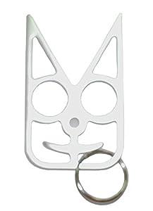 Safety Cat Women's Self Defense Keychain - Silver