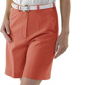 Monterey Club Ladies Fairway Shorts #2818A (Bright Orange,Size:14)