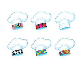 Chef's Hats (The Bake Shop) Mini Accents Variety Pack