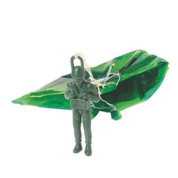Lot Of 12 Army Green Large Paratrooper Parachute Toys (Army Paratrooper Figure compare prices)