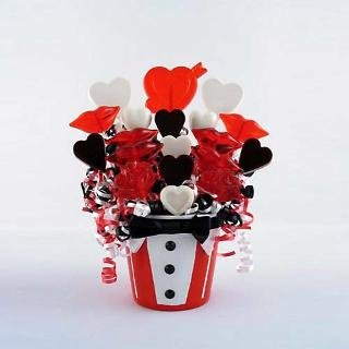 Bow Tie Kisses Lollipop Bouquet