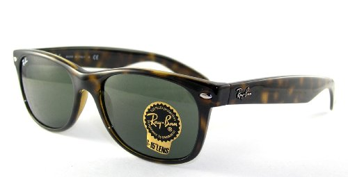 Ray-Ban RB2132 New Wayfarer Sunglasses,Tortoise Frame/G-15-XLT Lens,55 mm
