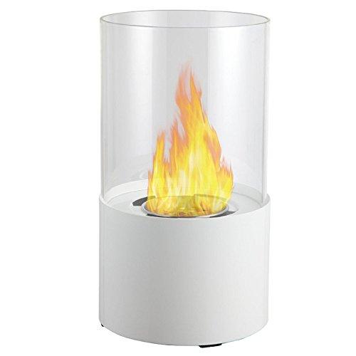 Moda Enthusiasm Lit Table Top Firepit Bio-ethanol Fireplace in White