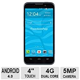 FreedomPop ZTE Force LTE Freedom Phone - Blue (Certified Refurbished)