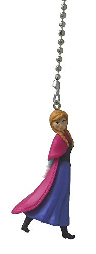 Disney Classic Disney FROZEN movie assorted Character Ceiling FAN PULL light chain (Anna - blue peasant dress pink cape) (Character Ceiling Fans compare prices)