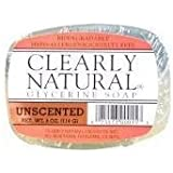 Clearly Natural Unscented Glycerine Bar Soap, 4 Ounce -- 6 per case.