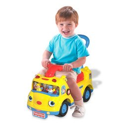 Fisher Price Little People School Bus Ride on w/English Generic Sound Chip