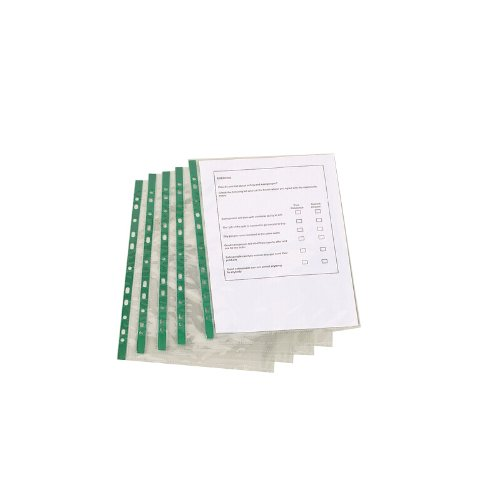 q-connect-punched-pocket-glass-clearpack-of-100