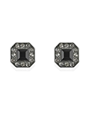 M&S Collection Encrusted Stone Cube Diamanté Stud Earrings