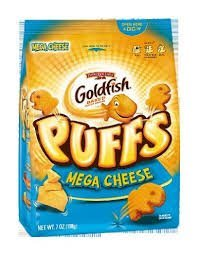 Goldfish Puffs Snacks, 7 Oz. Bags, (Pack of 3) (Mega Cheese)