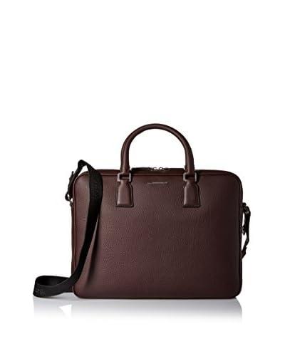 Ermenegildo Zegna Men's Briefcase Bag, Burgundy