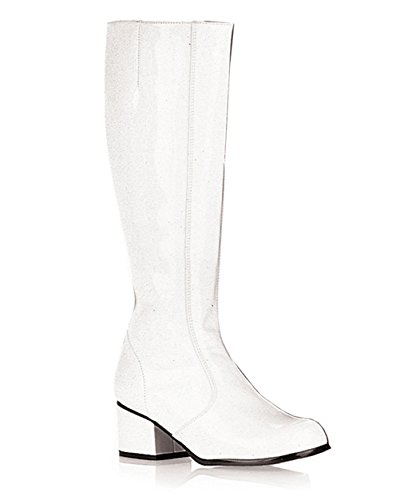 Sexy GOGO Boot Chunky Heel Theatre Costumes Dress Up White Size: 6 (White Gogo Boots Cheap)