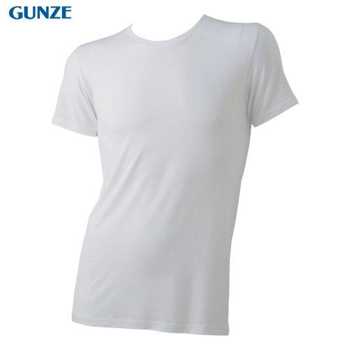 (グンゼ)GUNZE 【COOLMAGIC】極上体感・天竺 【吸汗速乾×持続消臭×冷感】 クルーネックTシャツ MC0913H 98 ライトグレー M