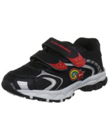 Boys Bubblegummers Jordan Black/White Trainers