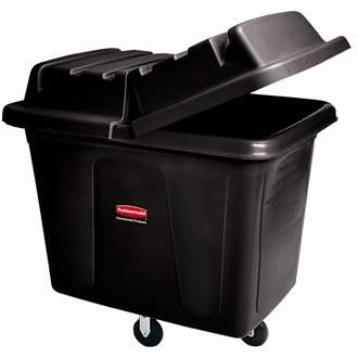Rubbermaid Cube Truck Colour: Black. Capacity: 400 ltr