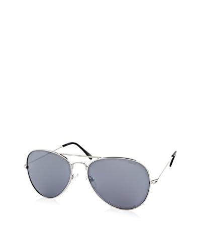 Timberland Men's TB7075 Aviator Sunglasses, Silver/Mirror Gray
