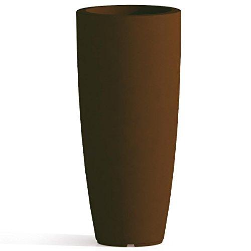 Vaso Agave In Resina Tondo Marrone H90 Ø 40Cm