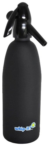 Whip-It 1-Liter Soda Siphon, Rubber Coated, Black (Soda Siphon Cartridge Holder compare prices)