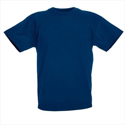 KINDER T-SHIRT FRUIT OF THE LOOM VALUE 128 140 152 164 164,Dunkelblau