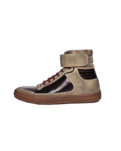 DIESEL BLACK GOLD - Sneakers A collo alto da Uomo ALEN-MB - Marrone (Bone White / Burnt Hen H4978), 42