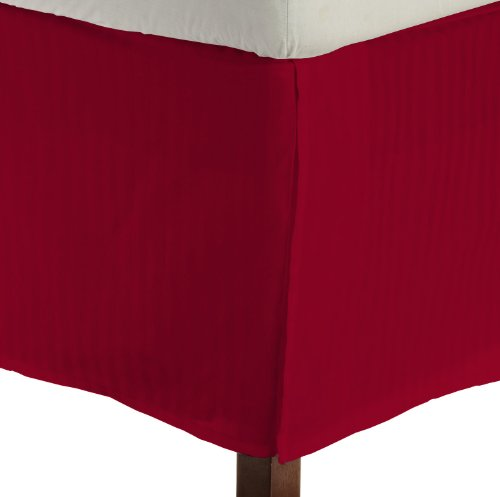 king Size 400 Thread Count 100% Egyptian cotton 16 Deep Pocket Tailored Bedskirt Striped -Blood Red Created By Pearl Bedding lacasa bedding 400 tc egyptian cotton fitted sheet 17 extra deep pocket italian finish solid queen brick red