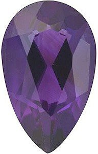 Pear Shape Genuine Amethyst Loose Gemstone, Quality Grade, AAA 0.63 carats 7.00 x 5.00 mm
