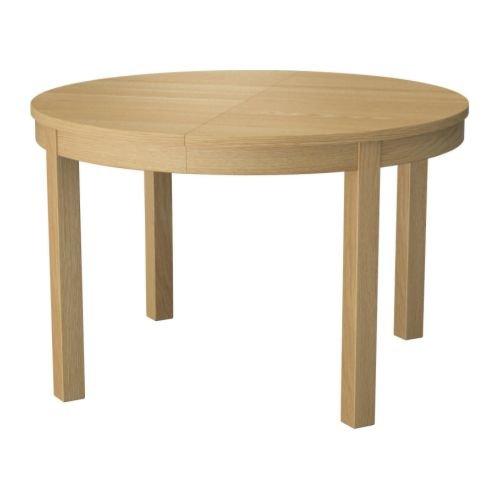 IKEA(イケア) BJURSTA オーク材突き板 00161724 伸長式テーブル、オーク材突き板