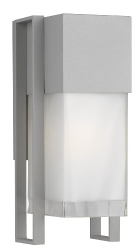 Forecast Lighting F8550-10 Clybourn One-Light Exterior Wall Light With Etched And Clear Glass, Graphite Finish