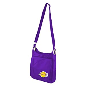 NBA Los Angeles Lakers Ladies Color Sheen Cross Body Purse, Purple by Littlearth